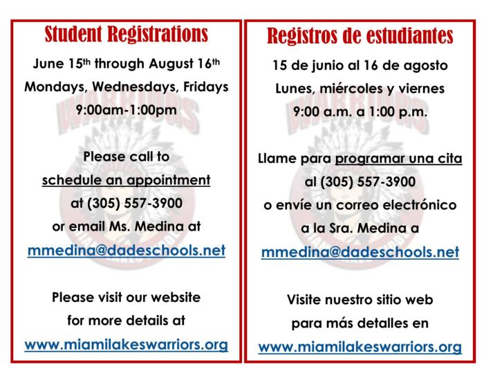 STUDENT REGISTRATION FOR THE 2020-2021 SCHOOL YEAR - News ...